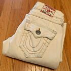 Vintage True Religion Jeans Sz 24 Womens Joey Twisted Flare Distressed Off White