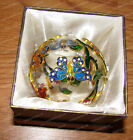 Butterfly Cloisonne Glass Ornament Nature 1303A Hand painted Baked Enamel
