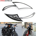 Motorcycle Black Flame Rear view Mirrors For Harley Cruiser Bobber Chopper Dyna