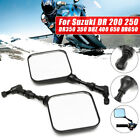 Motorcycle Rear View Mirrors 10mm For Suzuki DR 200 250 DR350 DRZ 400 650 US