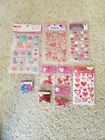 9 packs of Valentines day themed scrapbook embellishments