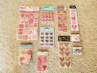 10 packs of Valentines Day themed scrapbook embellishments