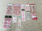 11 packs of Valentines Day themed scrapbook embellishments