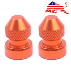 Universal Fits Tire Valve Stem Caps Tyre Wheel Dust Adapter Cover Orange MH