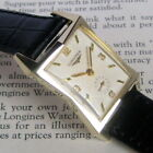 Mens Original 1954 Longines Faceted PINCHED Case Waffle Dial 10K GF Swiss Watch