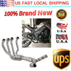 Motorcycle Exhaust System Muffler Tip + Link Pipe for KAWASAKI Z1000 2010-2018