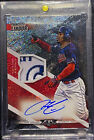 2019 Topps Fire Francisco Lindor Auto Autograph Patch Inferno 1 1