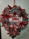 Valentines day Wreath Loads of Love Red Truck