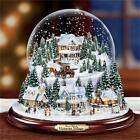 THOMAS KINKADE Victorian Village Snowglobe LIGHTED MUSICAL NEW