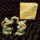 Magnetized Elephant Salt and Pepper Shakers With Original Box