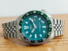 REFURBISHED VINTAGE SEIKO DIVER 7002 7001 AUTOMATIC WATCH GREEN MOD 2D2236