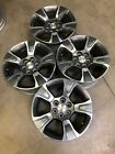 Set 17 Inch Chevy Colorado 5671 Wheels Rims Charcoal Machined OEM GMC Canyon