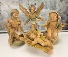 FONTANINI ITALY MARY BABY JESUS JOSEPH ANGEL 100 1 2 3 9 NATIVITY FIGURE SET LOT