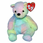 Ty Beanie Baby Mellow The Multi-Colored Rainbow Teddy Bear MWMT - FREE Shipping