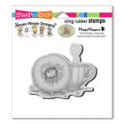 HOUSE MOUSE RUBBER STAMPS CLING DONUT DAY NEW cling STAMP