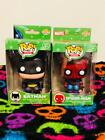 Funko Vinyl Target Exclusive Mini POP Batman & Spider-Man Holiday 2014 Christmas