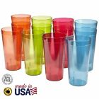 32 Oz Plastic Tumblers Reusable Cups Restaurant Cup Set Drinking Glasses Of 12