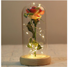 LED Galaxy Rose Flower Valentines Day Gift Romantic Crystal Rose With Box Women
