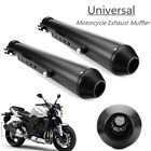 2x 175 Universal Motorcycle Exhaust Pipe For Harley Bobbers Racing Cafe Racer