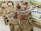 Vintage Style Perfume Labels DIE CUTS Gift Tags 20 Piece Paris Shabby Label