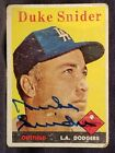 1958 Topps DUKE SNIDER 88 Signed Card Brooklyn Dodgers Team vtg HOF Auto