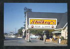 STUCKEY'S PECAN SHOPPE TEXACO GAS STATION ADVERTISING POSTCARD COPY OLD CARS