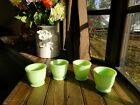 1 RARE Vintage Green JADEITE Glass Heavy Duty FOOTED CUSTARD CUP Dessert Cup 3