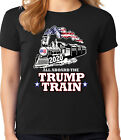 Trump 2020 Ladies Tee Womens T-shirt MAGA Woman Trump Train