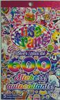 LISA FRANK NEW 5 Sticker Sheets Book 600 STICKERS Girls Party Favors Scrapbook