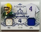 BRETT FAVRE PAUL MOLITOR 2019 LEAF IN THE GAME USED DUAL JERSEY SP CARD #22 30