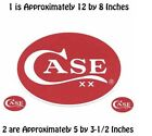 CASE XX KNIVES NEW SET OF 3 WINDOW DECAL STICKERS 50032 USA MADE