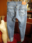 34x33 FIT Vtg 90s Levis 501 DISTRESS NATURAL FADE Buttonfly Raw Denim Jeans