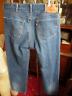 38x33 FIT Vtg 90s Levis 501 DISTRESS NATURAL FADE Buttonfly Raw Denim Jeans
