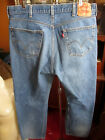 38x32 FIT Vtg 90s Levis 501 DISTRESS NATURAL FADE Buttonfly Raw Denim Jeans