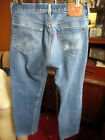 33x31 FIT Vtg 90s Levis 501 DISTRESS NATURAL FADE Buttonfly Raw Denim Jeans