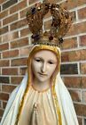 VINTAGE 1930s OUR LADY OF FATIMA STATUE 29 VIRGIN MARY ANTIQUE CHICAGO CHURCH