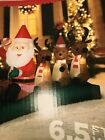 CHRISTMAS INFLATABLE AIRBLOWN Santa Sledding With Reindeer 65 Ft New
