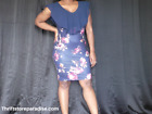 Blue Flowered Ruffled Top Dress Size Large Summer Or Spring