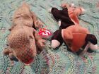 Set Of 2 Ty Beanie Babies Chips And Scaly With Tags