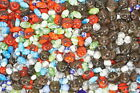 Assorted Lot of Mixed Limited Old Stock Murano Glass Beads Making Supplies 22lb