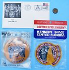 NASA STS 51G Lot of 3 vtg Space Shuttle DISCOVERY Patch Cover Envelope Button