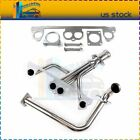 Fits Jeep Wrangler YJ 25L Stainless Steel Manifold Header w Downpipe
