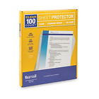 Box of 100 Heavy weight Clear Sheet Protectors Plastic Page Protectors 85 x 11