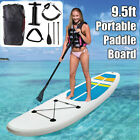 95FT Portable Inflatable Surfboard Surfing Board Surf Stand Up Paddle SUP Set