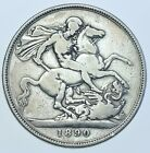 1890 CROWN BRITISH SILVER COIN FROM VICTORIA GF+