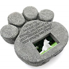 Grave Tombstone Dogs Cats Memorial Gifts Paw Print Pet Memorial Stone Indoor