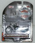 Harley-Davidson 2001 FXSTS Springer Softail Motorcycle 1:24 Scale Model Diorama