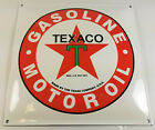TEXACO MOTOR OIL RED STAR WITH GREEN T LOGO 12