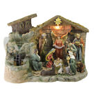 Northlight 13 Christmas Nativity Scene Indoor Table Water Fountain White Light