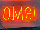 OMG Oh My God Neon Sign Lamp Light 14 Acrylic Box Beer Bar Glass With Dimmer